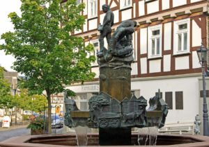 Brunnen in der Altstadt von Bad Laasphe