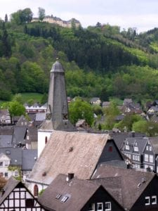 Blick auf Schloss Wittgestein in Bad Laasphe