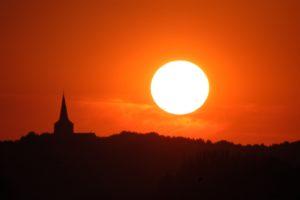Emmerich-Elten die Kneippstadt am Rhein Sonnenuntergang