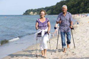 Göhren auf Rügen Walking am Strand