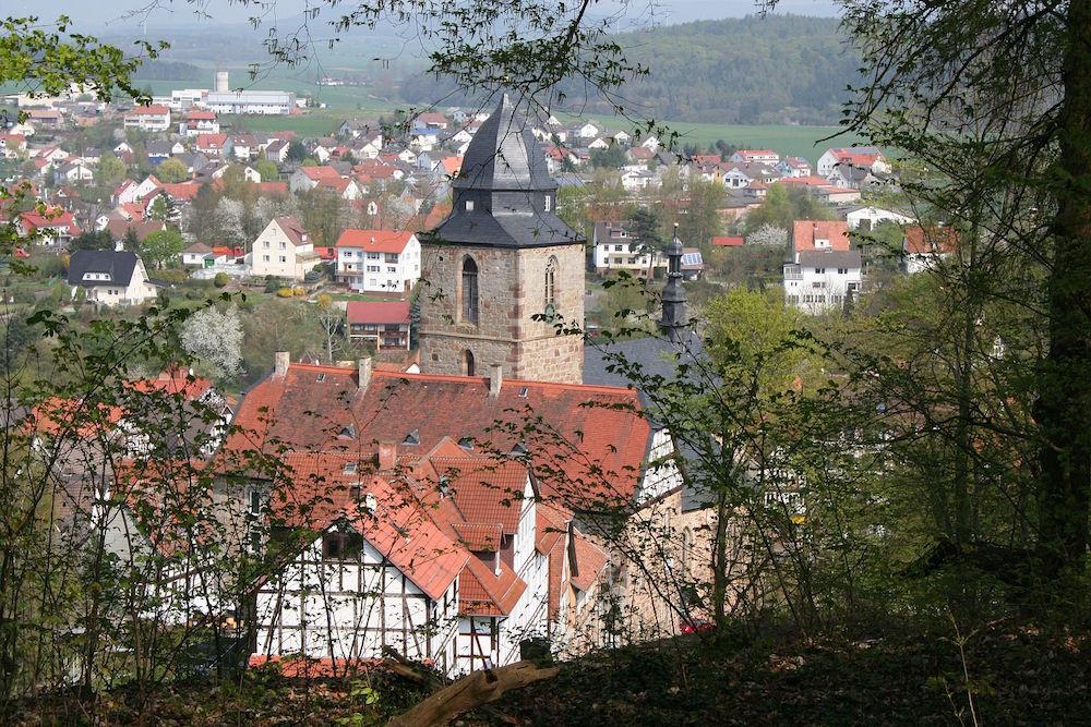 Blick vom Burgberg in Naumburg