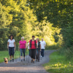 Nordic Walking im Park in Naumburg
