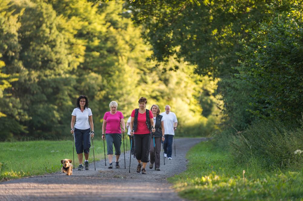 Nordic Walking im Park in Naumburg