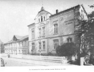 Sanatoriumin Olsberg schwarz weiß