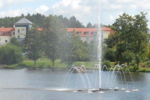 Weiskirchen Parkhotel mit See Fontaine