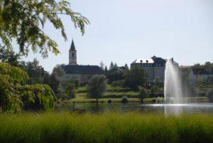Fontaine im See Weiskirchen