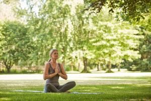 Yoga in Bad Wörishofen im Kurpark