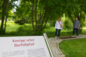 Barfußpfad in Bad Dürrheim nach Kneipp
