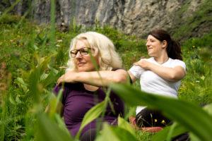 Yoga in den deutschen Alpen