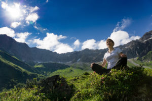 Bergvision Yoga in den Bergen in Deutschland