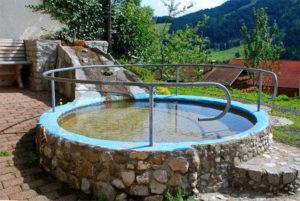 Wassertretanlage auf dem Ferienhof Ammann