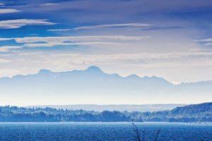 Blick auf das Alpenpanorama von Weiskirchen